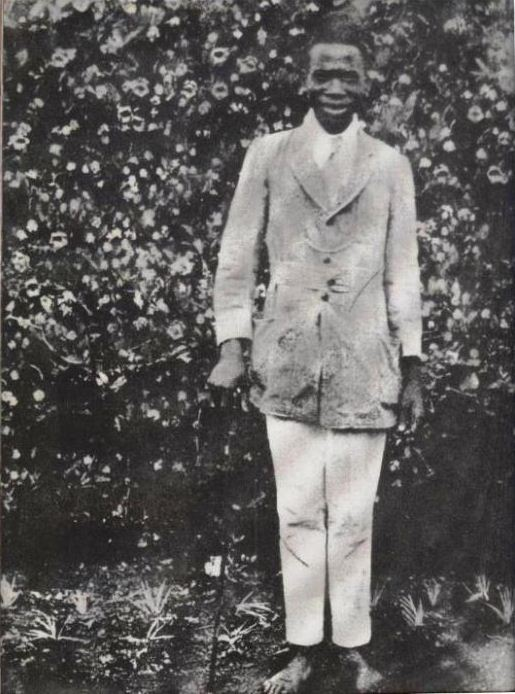 Kenya's first president during his youthful days.